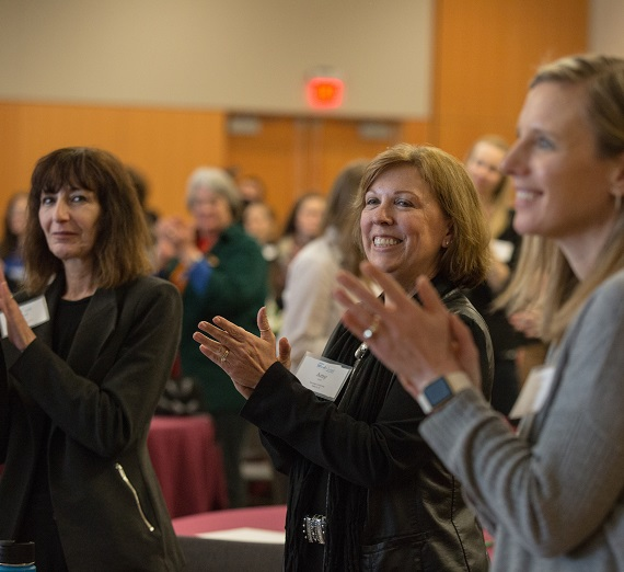 Women attend the first Women Lead Spokane conference on March 15 in the Hemmingson Center.