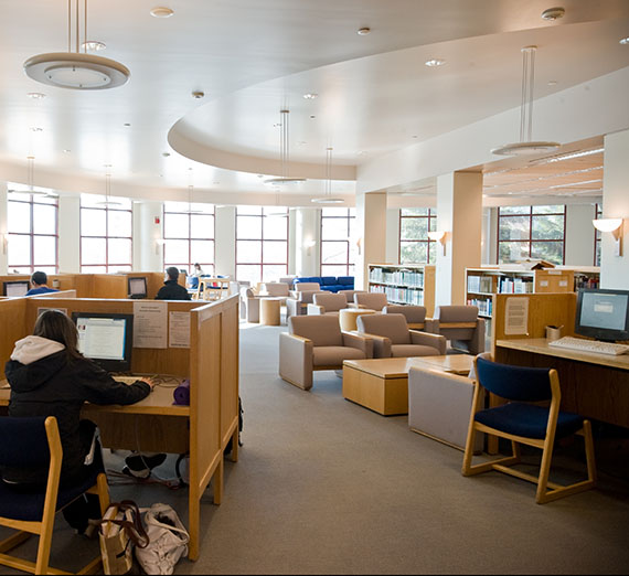 Foley Library interior.