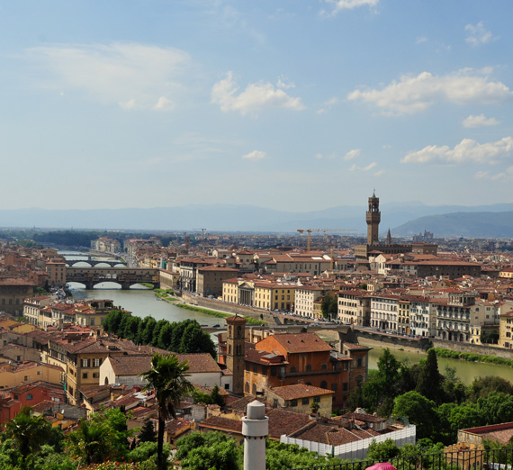 Daytime cityscape of Florence, Italy