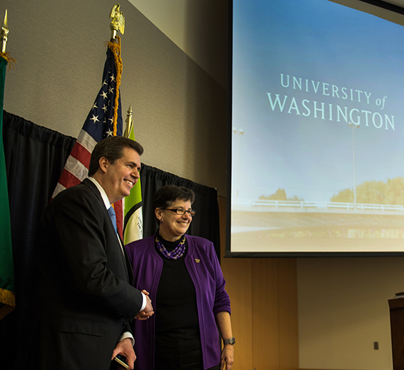 Announcement of the partnership between University of Washington and Gonzaga University for medical education and research in Spokane on Wednesday, Feb. 24, 2016.