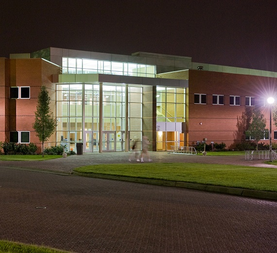 Jepson Center at night