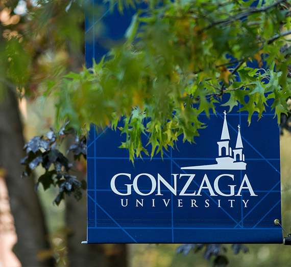 Blue flag Gonzaga University