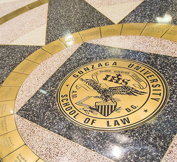 Gonzaga Law's floor seal