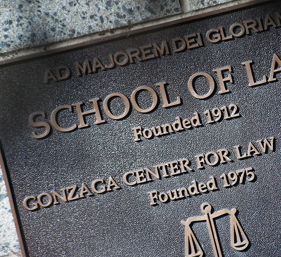 Gonzaga School of Law founded 1912 plaque
