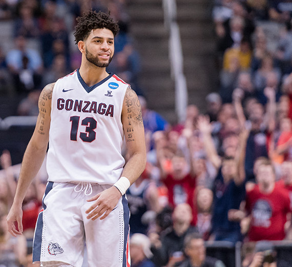 Josh Perkins was selected to the West Coast Conference's All-Academic Team in February. GU photo