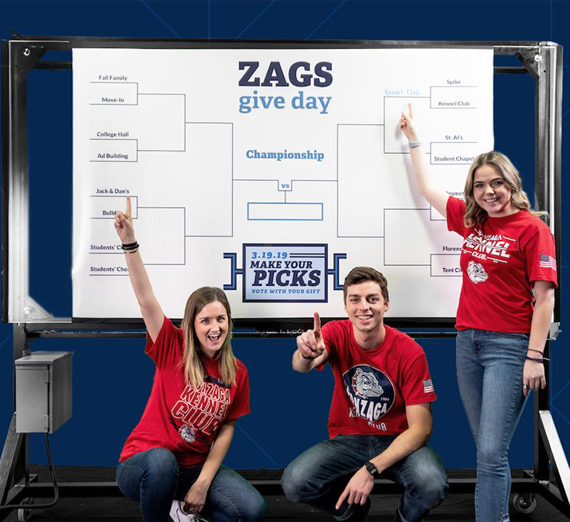 Zags Give Day supports students by fundraising for scholarships