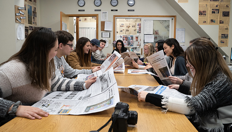 The Gonzaga Bulletin newspaper editors review the current issues and discuss upcoming story ideas.