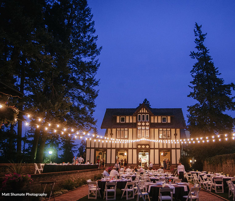 Wedding reception at Bozarth Mansion