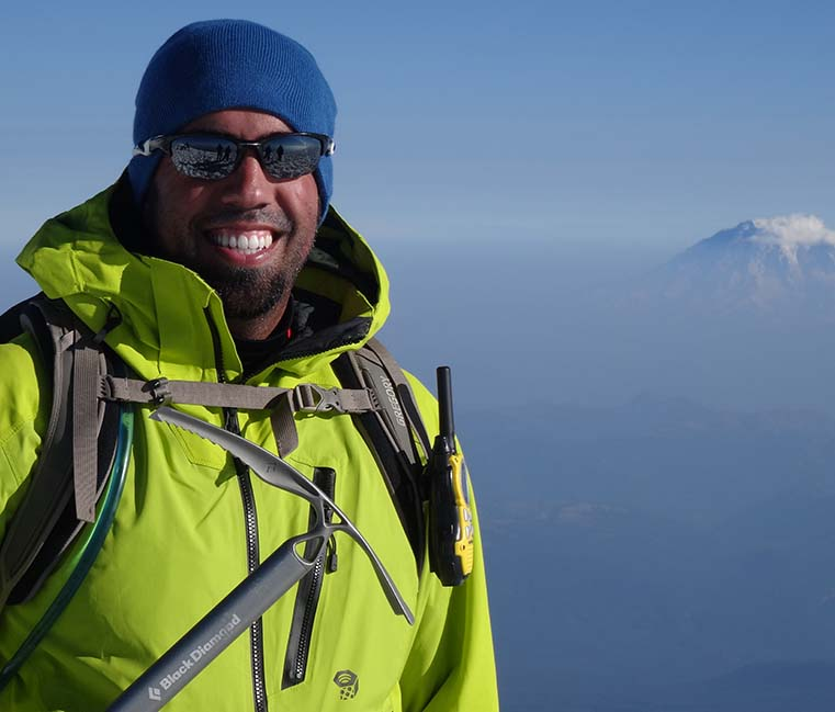 Trevor Airey on Mt Adams