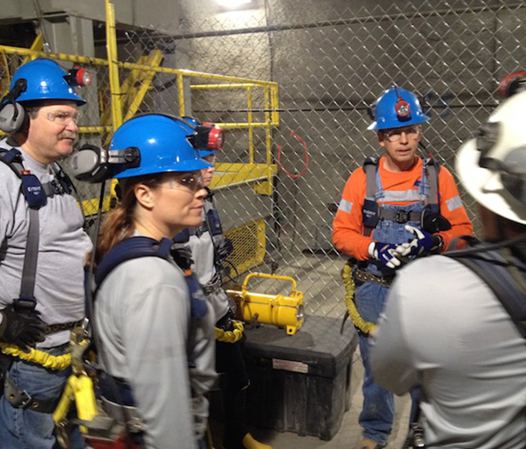 ELP participants tour the Lucky Friday Mine