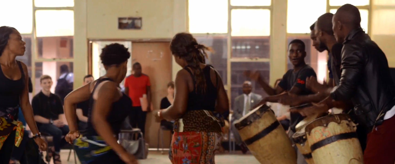 Dancers and drummers in Zambia perform