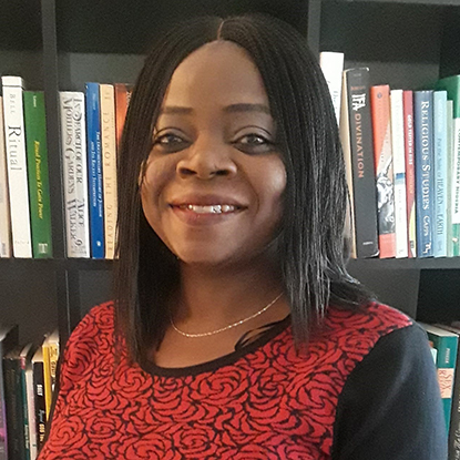 Portrait of Itohan Idumwonyi, Assistant Professor of Religious Studies