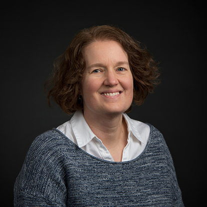 Portrait of Michelle Ghrist, Assistant Professor of Mathematics