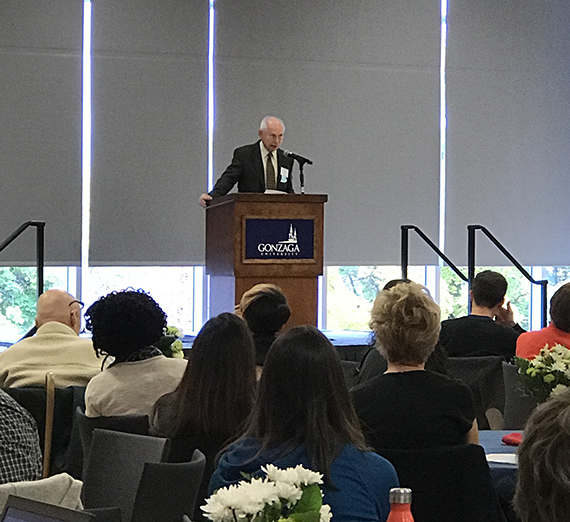 Joe Levin, Co-founder of the Southern Poverty Law Center, speaking at the 2017 International Conference on Hate Studies.