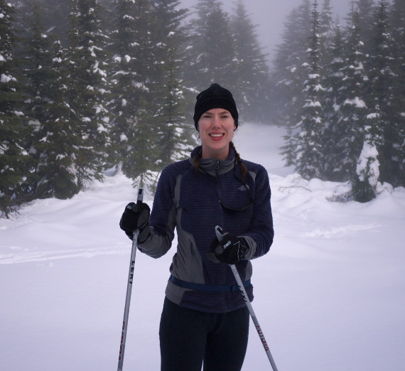 Dr. Addis cross country skiing