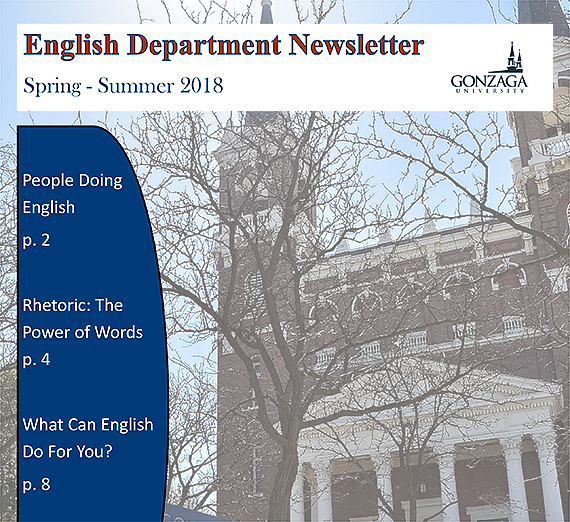 Decorative image of the cover for the English Department Newsletter
