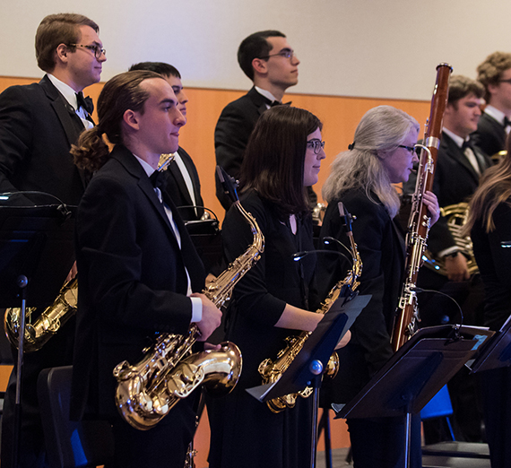 Members of the GU Jazz Ensemble perform at the 2016 Blue Allusions Concert