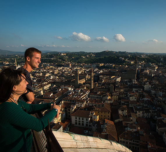 Students looking at view of Florence