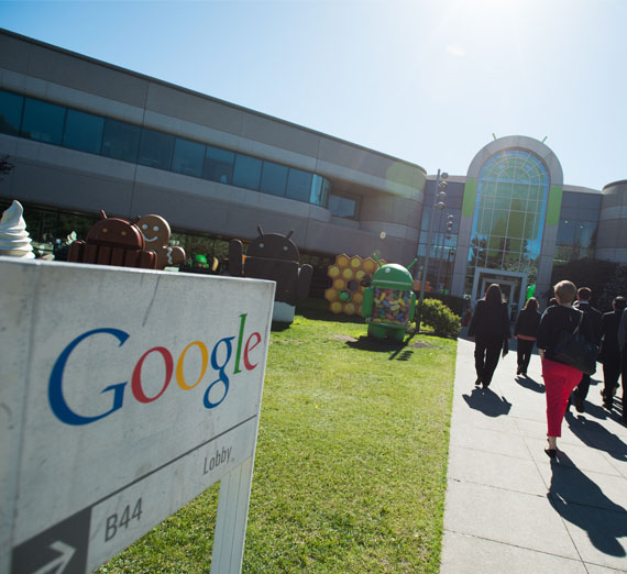 students visit Google