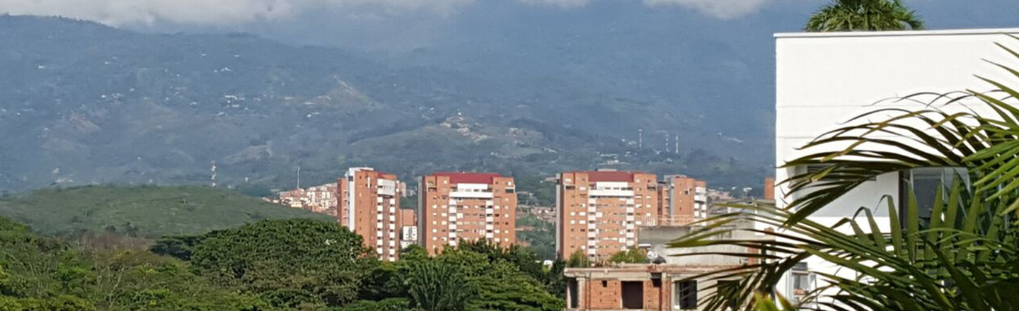 View of Hillside and Buildings in Cali, Columbia