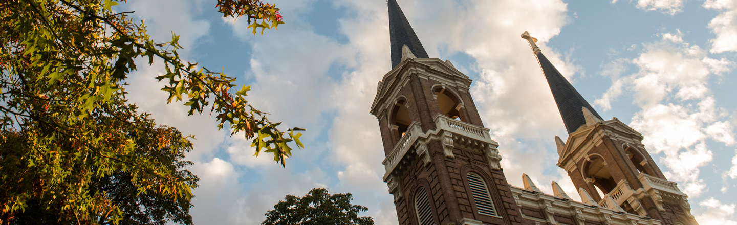 St. Al's Spires during fall