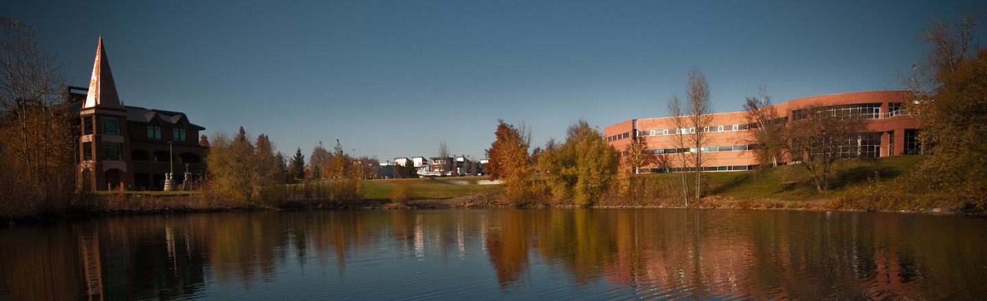 Image of river and Jepson Center.