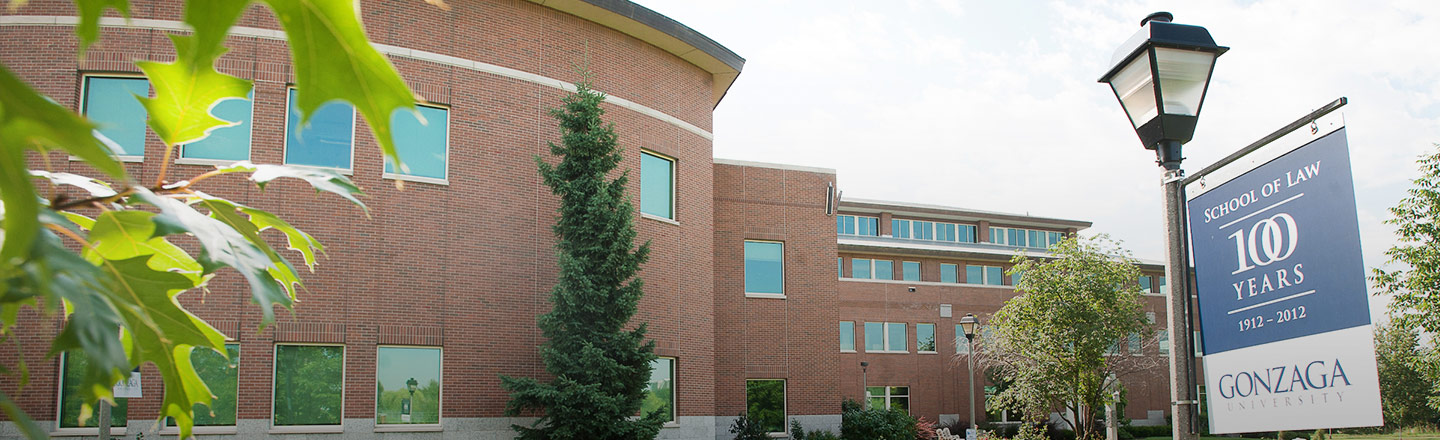 Side of building for Gonzaga Law School