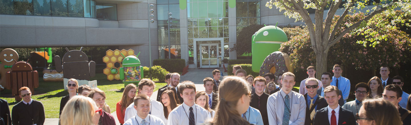 Students visit google headquarters