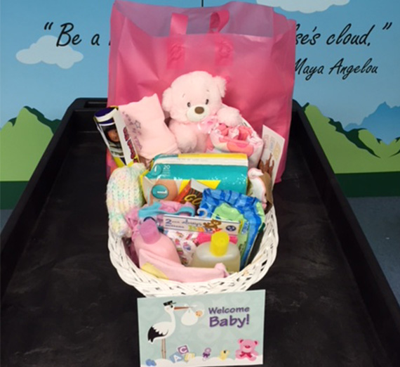 basket of items for baby