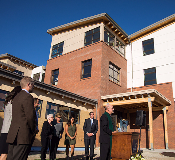 Gonzaga dedicates and blesses new Della Strada Jesuit community. (GU photo by Rajah Bose)
