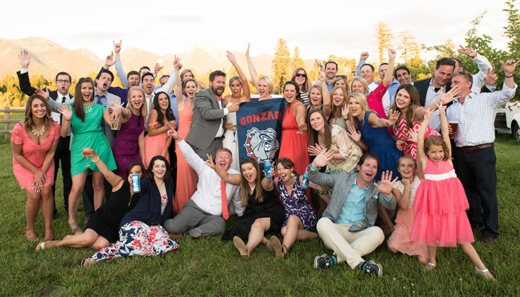 Gonzaga alumni wedding, Taylor Madison and Liza Turner