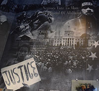 Civil Rights collage depicting a peaceful protest