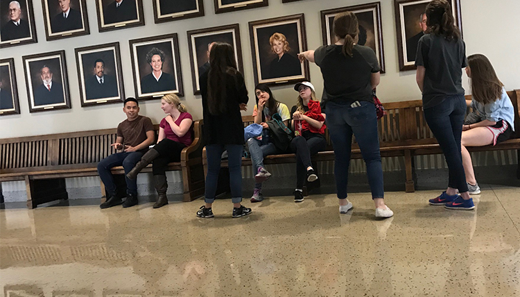 Gonzaga students wait outside AZ courtroom for Operation Streamline