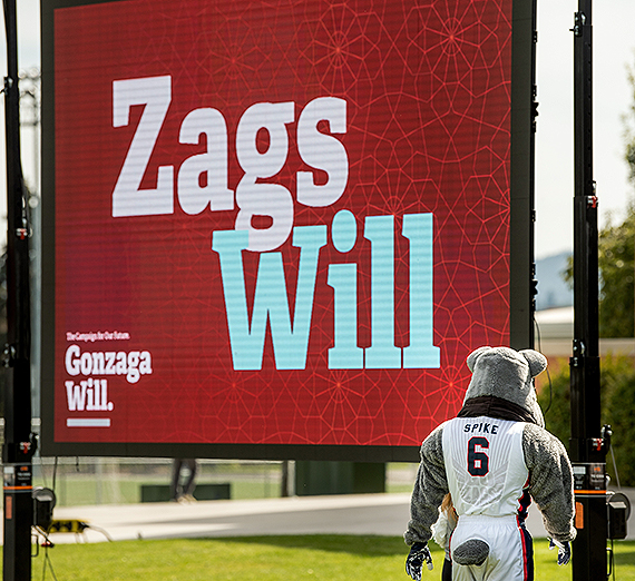 Gonzaga celebrated the milestone during an event on campus Wednesday, Sept. 18. GU photo