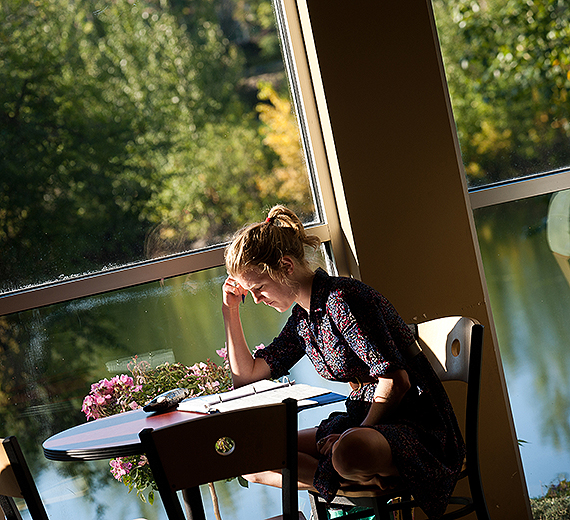 A student in the Gonzaga University  Jepson Center for the School of Business Administration. GU photo