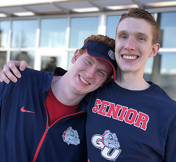 Jacob Masters (right) with his younger brother Joshua Masters, a rising Gonzaga sophomore.
