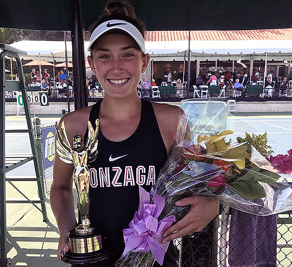Sophie Whittle with championship trophy. Photo courtesy Stormy Nesbit, ITA