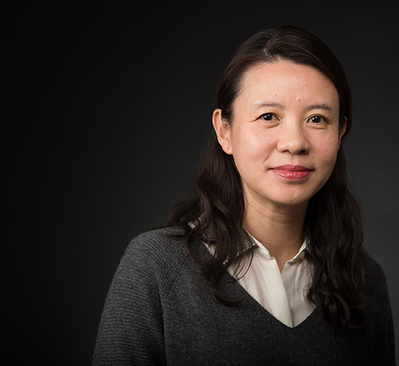Professor Danielle Xu (GU photo by Rajah Bose)