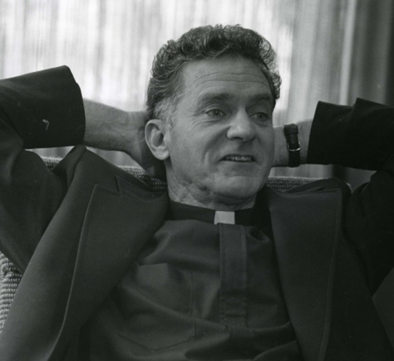 Black and white image of Fr. Coughlin.