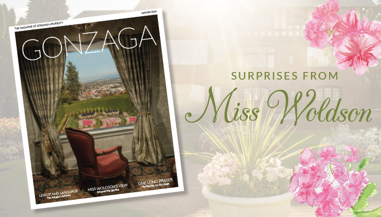 cover of Gonzaga Magazine 2016 Miss Myrtle Woldson estate
