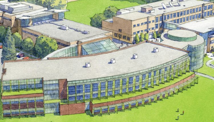 artist rendering of integrated science building