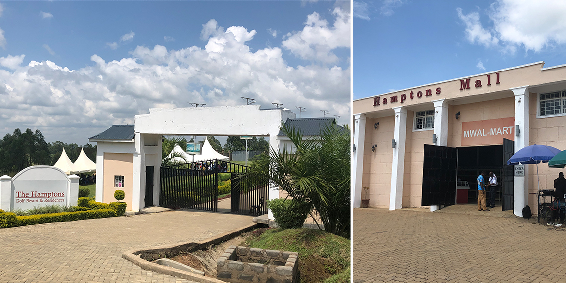 two photos showing businesses in Mwale Kenya