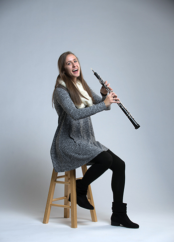 Megan Schultz is a highly skilled oboe player. (GU photo)