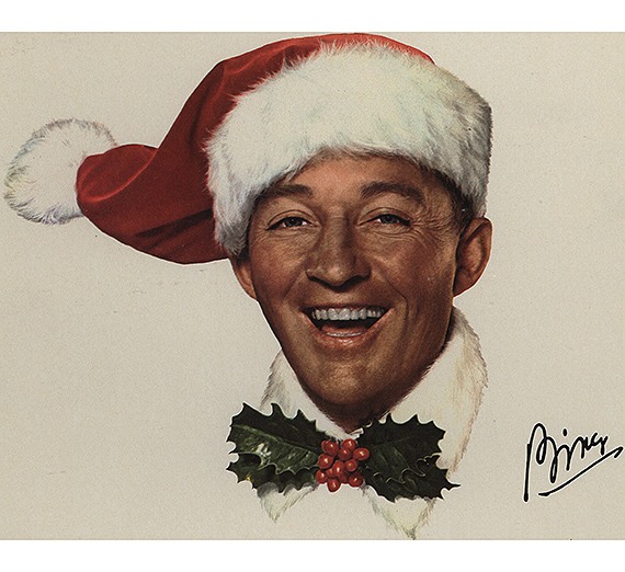 "Artwork from the ""Merry Christmas"" album. Courtesy the Bing Crosby Collection at Gonzaga University Archives and Special Collections."