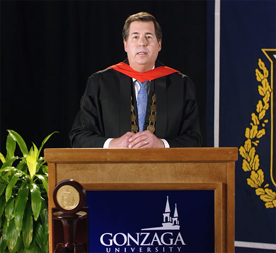 Thayne McCulloh at commencement 2020
