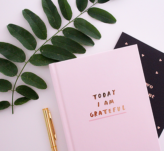 A gratitude journal. (Photo courtesy Freshh Connection)