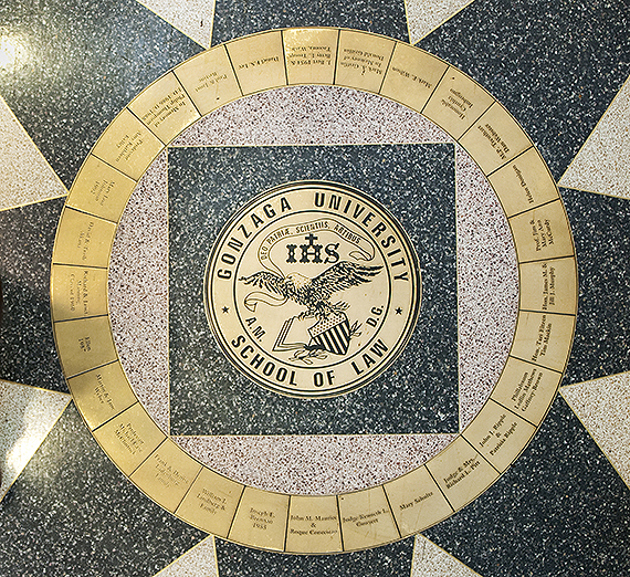 Law School Logo in floor