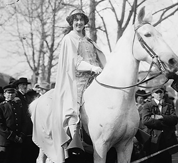 Lawyer and activist Inez Milholland led the Woman Suffrage Procession in Washington, D.C. in 1913.