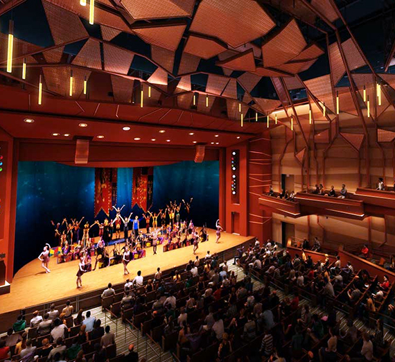 Myrtle Woldson Performing Arts Center Mainstage Theater. (Rendering credit: Pfeiffer Partners)