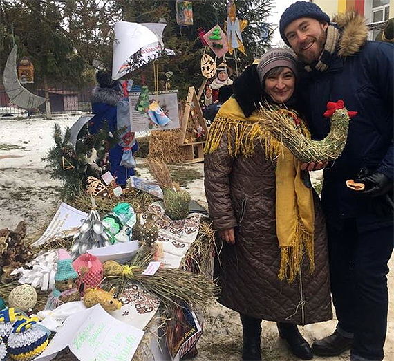 Gonzaga alumnus Ty Smith ('17) is serving in Ukraine as a youth development volunteer. (Photo courtesy Peace Corps)